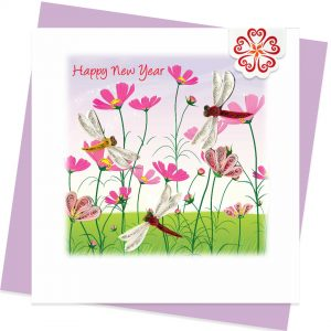 Quilling-card-15x15cm-Happy-New-Year-Spring-Garden-VN1NY115066E1 - Quilling Arts - VIET NET - From Hands with Love
