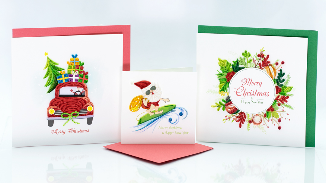 Christmas-Quilling-Card-Designs-of-Quilling-Arts-Viet-Net- Quilling Arts - VIET NET - From Hands with Love