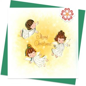 Lucky-angels-Quilling-card-15x15cm-Marry-Christmas-VN1XM115157E1- Quilling Arts - VIET NET - From Hands with Love