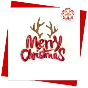 Quilled-Merry-Xmas-Quilling-card-15x15cm-Marry-Christmas-Santa-VN1XM115121E2- Quilling Arts - VIET NET - From Hands with Love