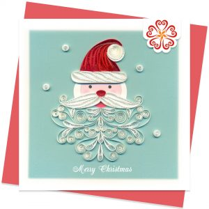 Snowbeard-Santa-Quilling-card-15x15cm-Marry-Christmas-VN1XM115130E2- Quilling Arts - VIET NET - From Hands with Love