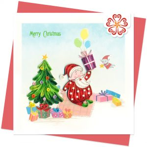 Quilling-Arts-Viet-Net-From-hand-with-love-Hello-Santa-Christmas-Quilled-greeting-card-15x15cm-Merry-Christmas-VN1XM115162E2
