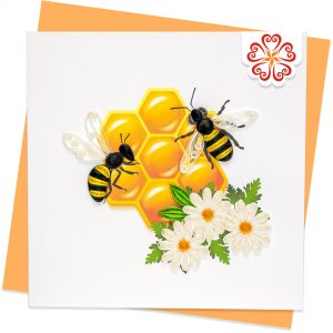 Quilling-Arts-Viet-Net-From-hand-with-love-Love-bees-VN2XM1150VXNN