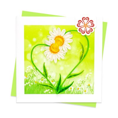 Quilling-Arts-Viet-Net-From-hand-with-love-Quilled-greeting-card-10x10cm-heart-daisy VN2XM110212NN