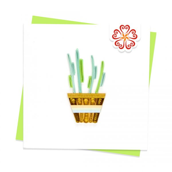 Quilling-Arts-Viet-Net-From-hand-with-love-Quilled-greeting-card-10x10cm-straight-cactus-basket VN2XM110199NN