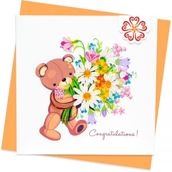 Quilling-Arts-Viet-Net-From-hand-with-love-Quilled-greeting-card-15x15cm-Congratulations-beer-and-flowers VN2XM115A24E2