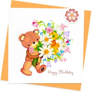 Quilling-Arts-Viet-Net-From-hand-with-love-Quilled-greeting-card-15x15cm-HPBD-beer-and-flowers