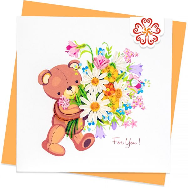 Quilling-Arts-Viet-Net-From-hand-with-love-Quilled-greeting-card-15x15cm-Love-beer-and-flowers