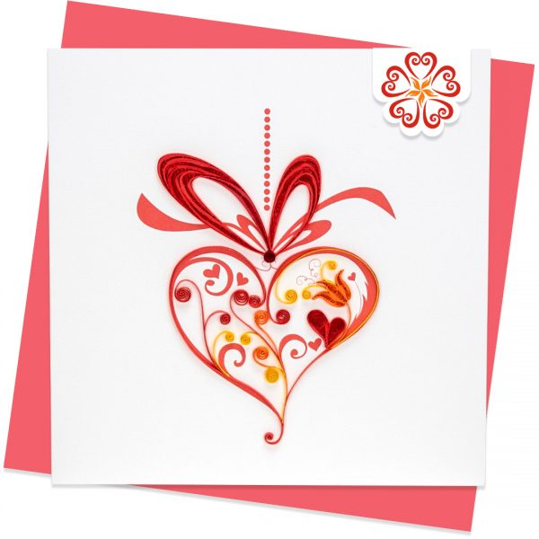 Quilling-Arts-Viet-Net-From-hand-with-love-Quilled-greeting-card-15x15cm-Love-heart-ornament VN2NN115A26NN