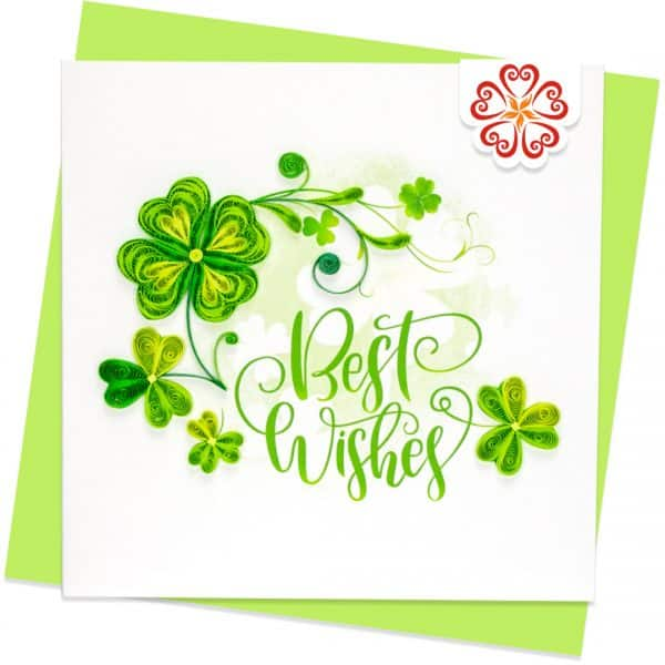Quilling-Arts-Viet-Net-From-hand-with-love-Quilled-greeting-card-15x15cm-best-wishes--lucky-leaves VN2XM115A23E1