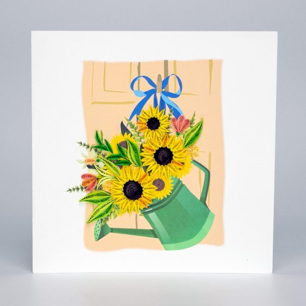 Quilling-Arts-Viet-Net-From-hand-with-love-Quilled-greeting-card-15x15cm-flower-sunflower-basket-1 VN2XM115A31NN