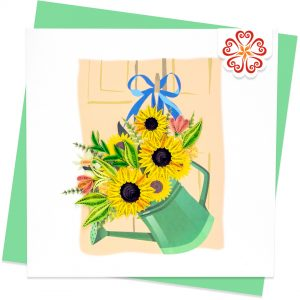 Quilling-Arts-Viet-Net-From-hand-with-love-Quilled-greeting-card-15x15cm-flower-sunflower-basket VN2XM115A31NN