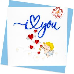 Quilling-Arts-Viet-Net-From-hand-with-love-light-Quilled-greeting-card-15x15cm-Love-Cupid-I-love-you VN2QL115027E1