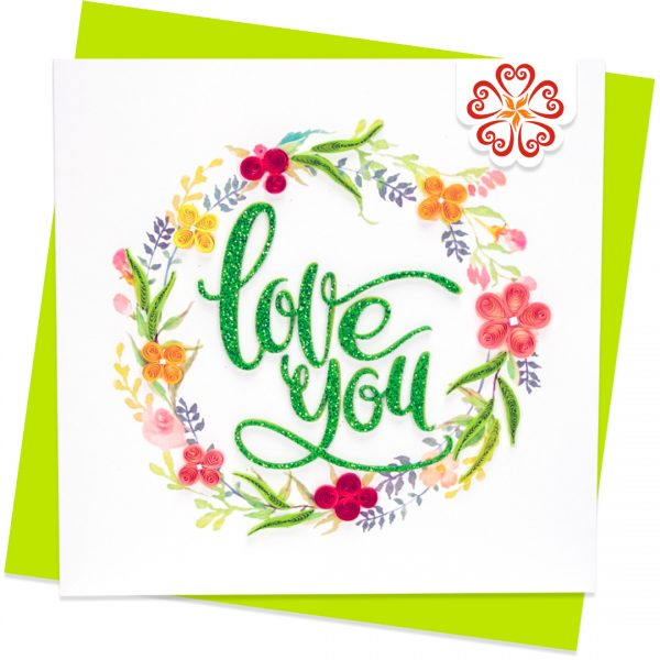 Quilling-Arts-Viet-Net-From-hand-with-love-light-Quilled-greeting-card-15x15cm-Love-Love-flowers-wreath VN2QL115029E1