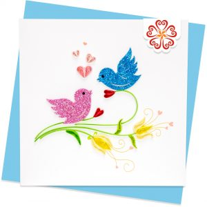 Quilling-Arts-Viet-Net-From-hand-with-love-light-Quilled-greeting-card-15x15cm-Love-love-birds VN2QL115036NN